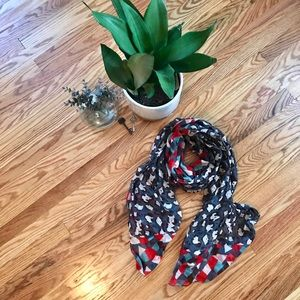 🌿 leopard print abstract scarf 🌿